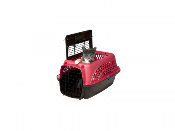 Petmate 2 Door Top Load Kennel XS Roze