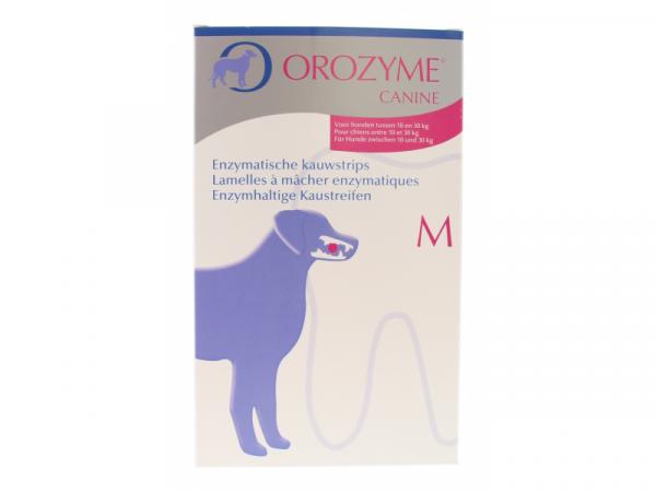 Orozyme kauwstrips M honden 10-30 kg 1 doos