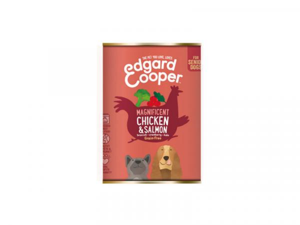 Edgard & Cooper Senior Blikjes Kip en Zalm 6 x 400 gram
