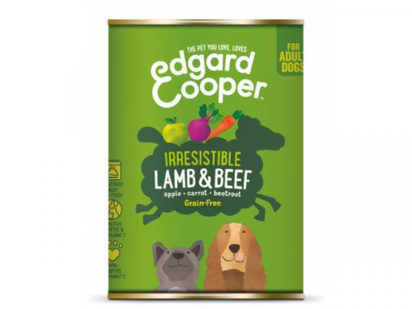 Edgard & Cooper Adult Blikjes Lam & Rund 6 x 400 gram
