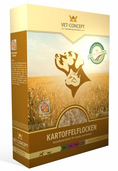 Vet-concept Aardappelflocken Hond Kat 500 gram (4 x 125 gram)