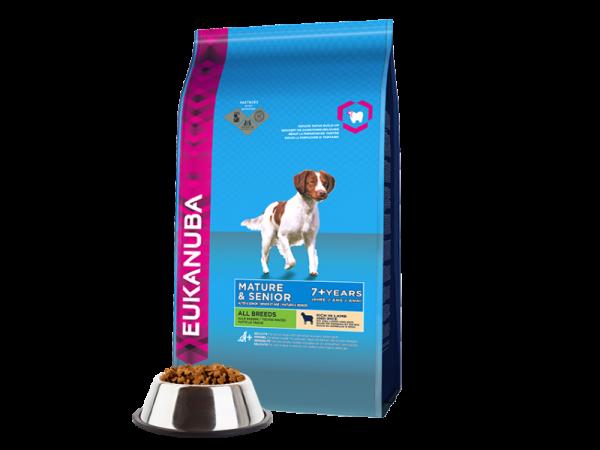 Eukanuba Dog Mature Senior Lamb Rice 12 kg