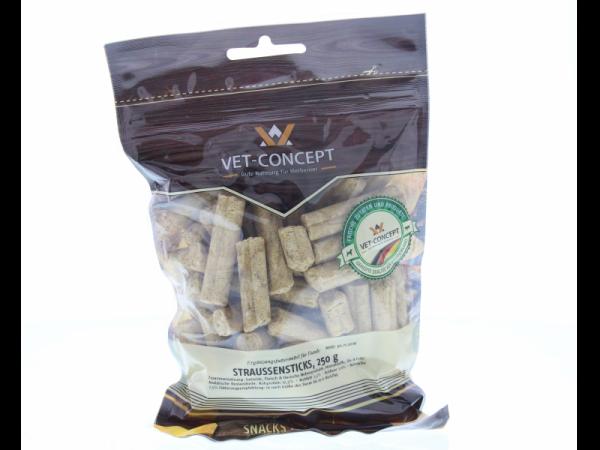 Vet-concept Struisvogelsticks Snack Hond 250 gram