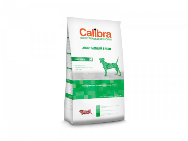 Calibra Dog Hypoallergenic Adult Medium Breed Lamb & Rice