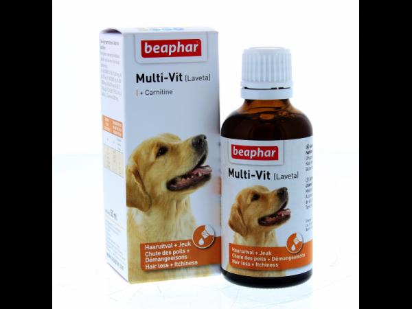 Beaphar Multi-Vit Hond (=Laveta Carnitine) 50 ml