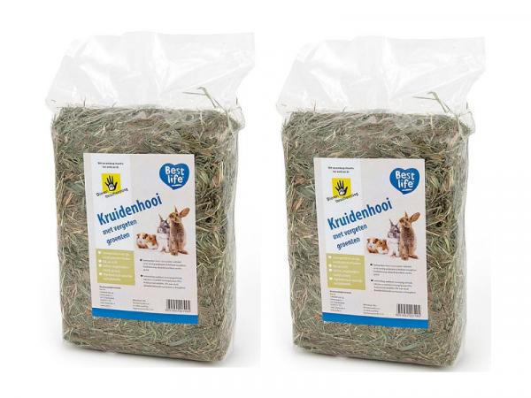 Best Life Kruidenhooi Konijn Cavia Vergeten Groenten 2 x 500 gram