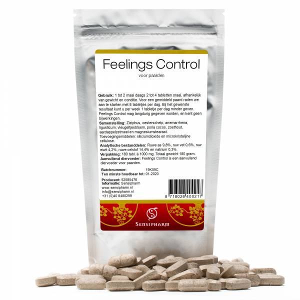 Sensipharm Feelings Control Paard 180 tabletten