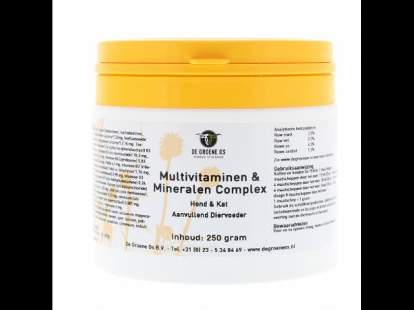 Multivitaminen en mineralen Complex Basis Groene Os 250 gram