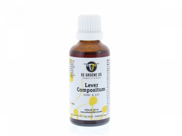 Lever Compositum Hond Kat Groene Os 50 ml