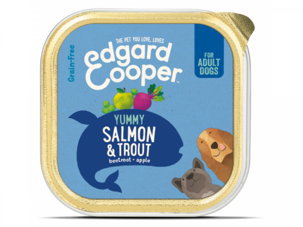 Edgard & Cooper Adult Kuipjes Zalm en Forel 11 x 150 gram