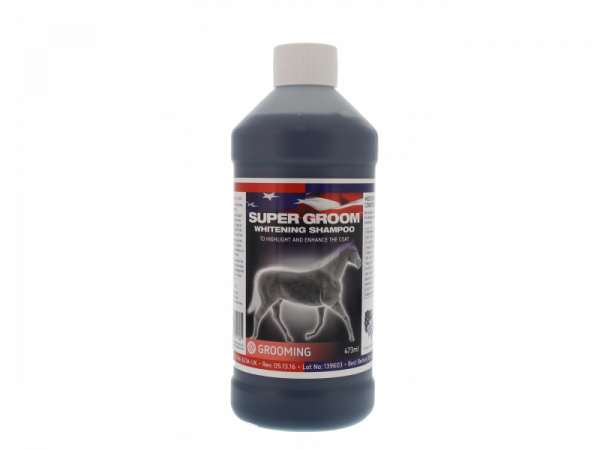 Super Groom Whitening Shampoo Equine America 473 ml
