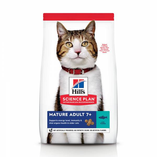 Hill's Science Plan Mature Adult 7+ Kattenvoer Tonijn 1.5 kg