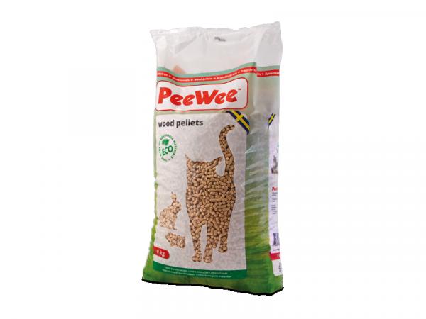 PeeWee Houtkorrels Kattenbak 9 kg