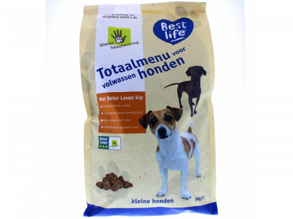 Best Life Totaalmenu Voer Volwassen Kleine Hond 12 (= 4 x 3) kg