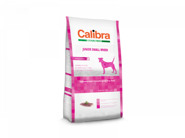Calibra Dog Grain Free Junior Small Breed Duck & Potato