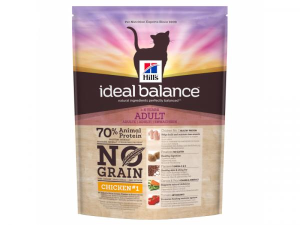 Hill's Ideal Balance Feline No Grain Kip Aardappel 6 x 300 gram