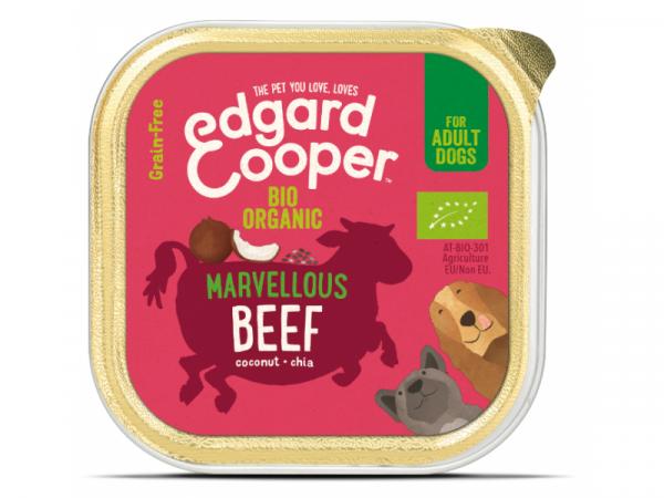 Edgard & Cooper Adult Biologisch Kuipjes Rund 17 x 100 gram