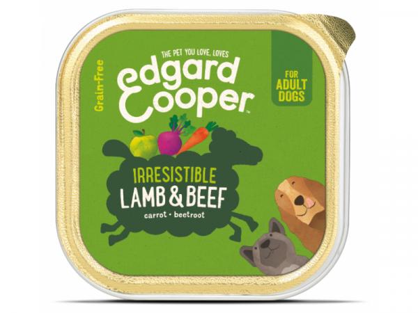 Edgard & Cooper Adult Kuipjes Lam en Rund 11 x 150 gram