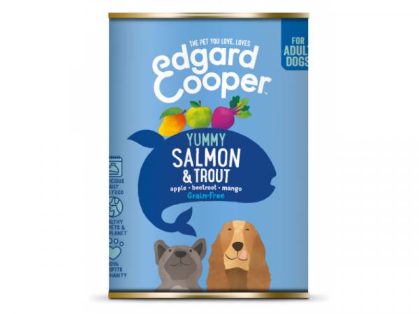 Edgard & Cooper Adult Blikjes Zalm en Forel 6 x 400 gram